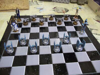 Part set- lucas film - star wars figurines and chess board