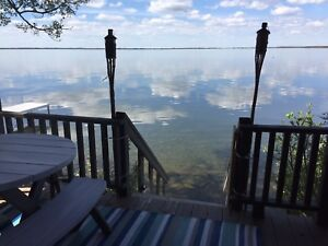 Lakefront cabin on deeded lot