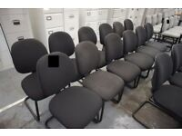 upholstered cantilever framed Meeting Chairs, 12 available