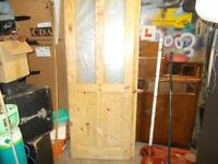 Pine Interior glazed doors.