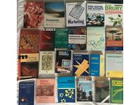 Selection of business, marketing, management and maths books