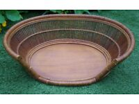 Oval wicker pet bed. Suitable cat or small dog. Great condition.
