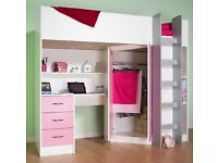 Loft Cabin Bed With Chair