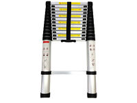 **BRAND NEW BOXED** 3.2m ALUMINIUM MULTI PURPOSE TELESCOPIC EXTENDABLE LADDER EN-131 HOME WORK