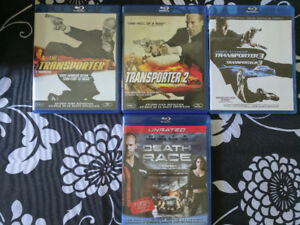 Transporter 1,2,3 & Death Race - $5 each all 4 for $15 - Bluray