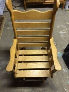One of a Kind SOLID WOOD Rocking/Glider Chair for Kids