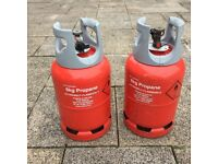 Calor gas 6Kg Lite Propane bottles - two lightweight cylinders including gas (safety checked)