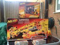Factory sealed rare Nerf Longshot CS-6 Dart Blaster, rare Single Blockade 2 packs of unopened darts