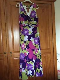 Multi colour maxi dress size 20
