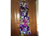 Multi colour maxi dress size 20