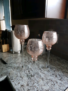Blush Candle Holders