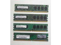 2GB (4 X 512MB DDR2 667/5300U Ram) 240pin - Can be seen running