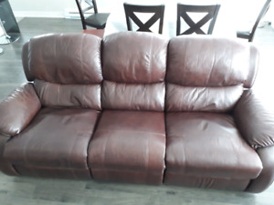 Sofa 3 places et fauteuil inclinables