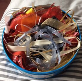 Large Tin of Assorted Ribbons