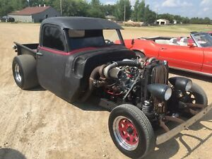 51 Chevy twin turbo Street Outlaw Ratrod with Trailer