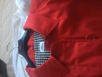 Lacoste Red Raincoat