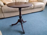 Round Mahogany Lamp Table