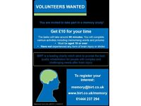 Male Participants wanted for Paid Memory Study