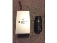 Cannon zoom lens EF 75-300mm f/4-5.6 III