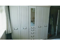 Kingston Signature Wardrobe with mirror and drawers in cream