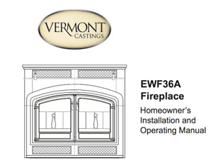 Fireplace insert, Vermont castings