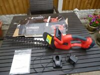 Soverign 18volt cordless hedgetrimmer brand new