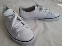 Ralph Lauren POLO Cantor White Leather Shoe