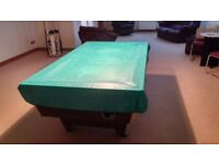 Full size pub pool table with accessories