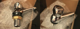 FIVE sets of bristan taps VAC 3/4 MT chrome bath value club metal heads plumbing plumber