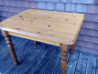 Antique pine kitchen table and 4 chairs.
