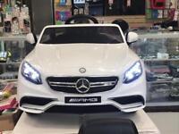 White Mercedes S63 AMG Coupe 12V Ride On Car