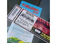Reading festival weekend camping tickets x2