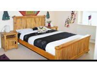 Oakfurniture land solid mango wood kingsize bed