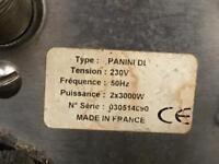 Panini grill 230v.2x3000w