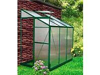 BRANDNEW aluminium greenhouse still boxed 6x4x7 £50