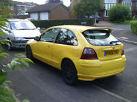 Mg Zr 1.4,1396cc,2002 ,Rare yellow one,mot january,low mileage,stunning looker,leather alloys,pas,cd
