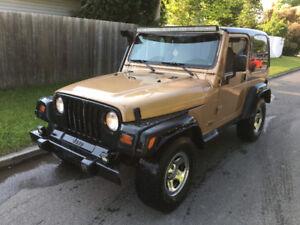 Jeep TJ 4.0L 4x4 manuel 5 vitesses