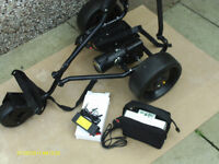 POWACADDY HILL BILLY COMPACT ELECTRIC GOLF TROLLEY/BATTERY/CHARGER