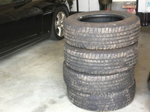 SET OF 4 GOODYEAR 265x65x18 ALL TERRAIN TIRES WITH MINIMAL WEAR