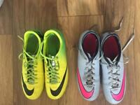 2 pairs of football boots Nike Mercurial