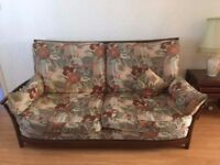 Ercol living room furniture suite - sofa & easy/arm chair vgc