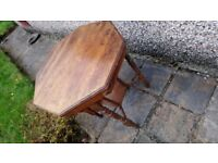 Victorian octagonal occasional table