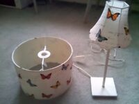MATCHING BUTTERFLY LAMP AND SHADE