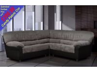 *COME AND VIEW IT ,TRY IT THEN BUY IT* BRAND NEW CANDY CORNER SOFA SUITE BLACK/GREY