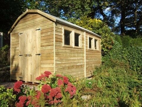 garden shed new and heavy duty tanalised wood dutch barn size 7ft x 5ft