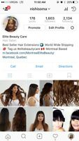 BROWN CLIP IN EXTENSIONS HUMAN HAIR
