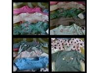 GIRLS TSHIRT SELECTION 0-3 MONTHS