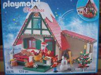 PLAYMOBIL SET NO 5976 - SANTA'S HOUSE / GROTTO - BNIB