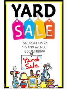 MULTI - FAMILY YARD SALE