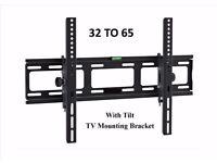 TV WALL BRACKET LCD Tilting TV mount 32 - 65 SKY PC I PHONE NEW